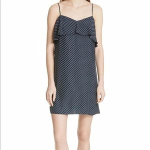 NWT ATM polka dot silk dress